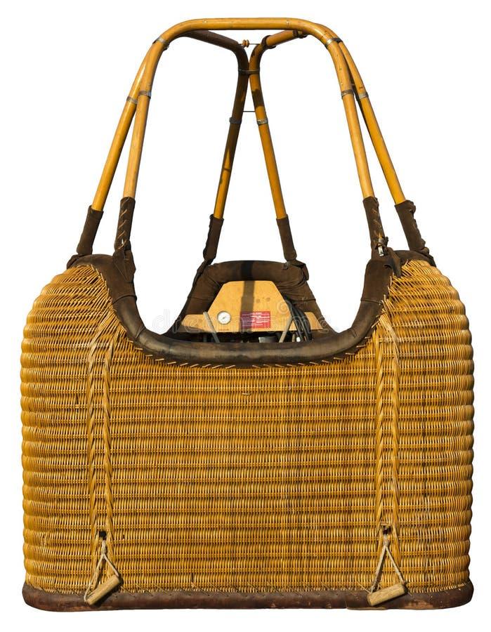 Free Hot Air Balloon Wicker Basket Gondola Isolated Stock Image - 32428241