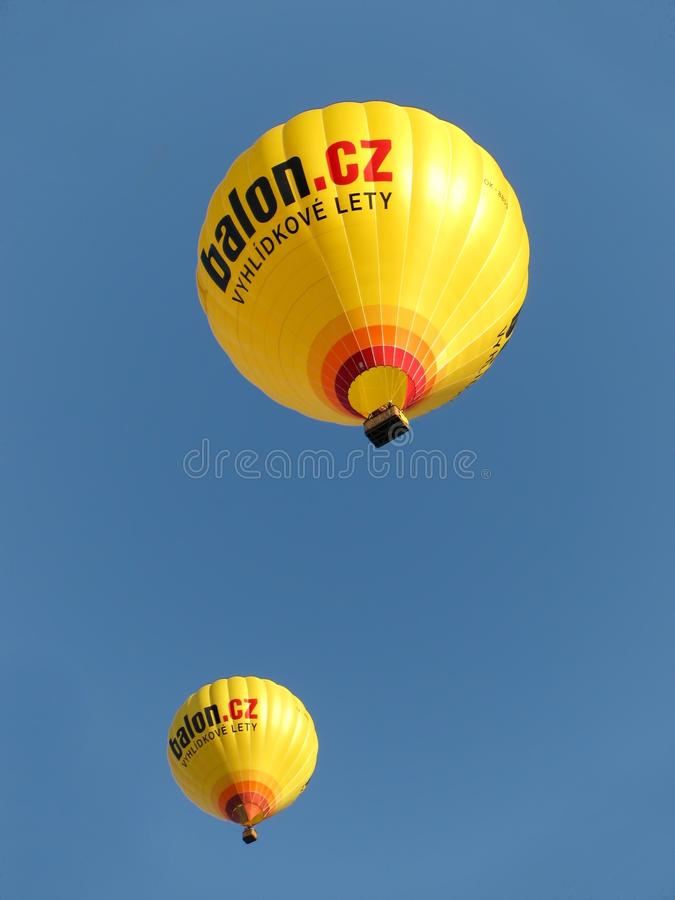 Hot Air Ballooning, Hot Air Balloon, Yellow, Sky royalty free stock photos