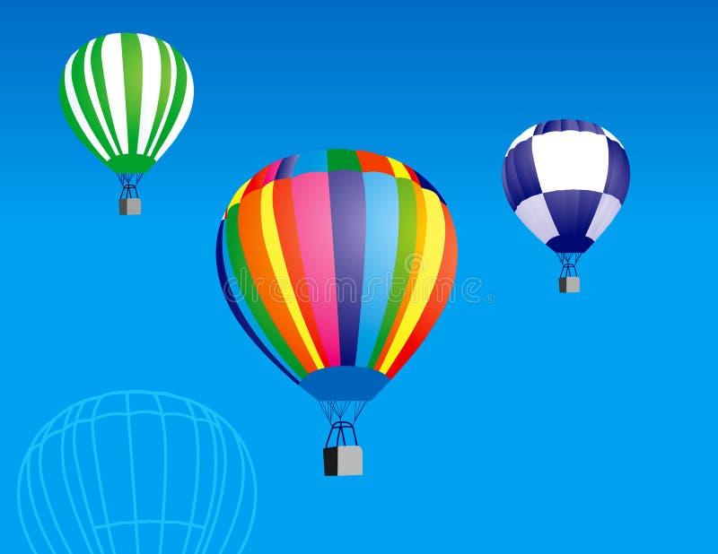 Hot Air Balloons royalty free illustration