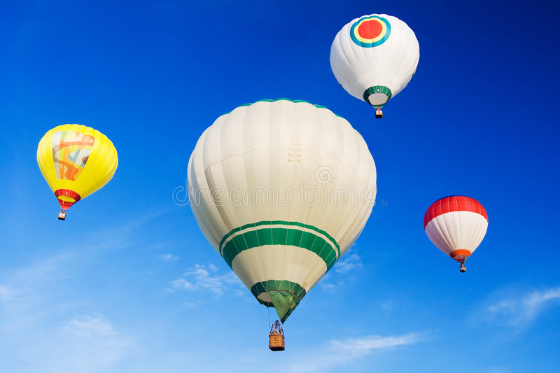 The hot air balloons royalty free stock image
