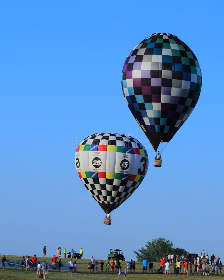Hot Air Balloons Aloft in Blue Sky-Achievement