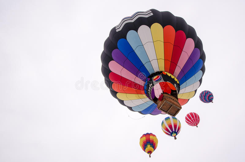Hot Air Balloons ascend in the sky Hudson Hot Air Affair royalty free stock photos