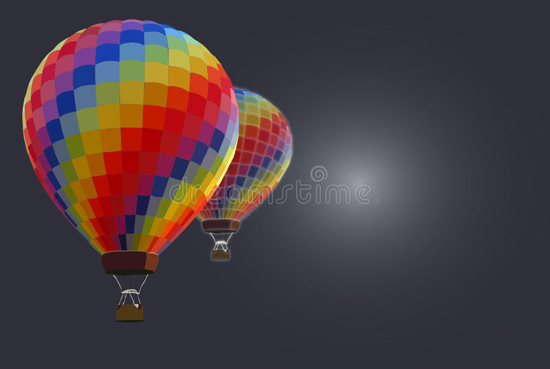 Hot air balloons - background stock image