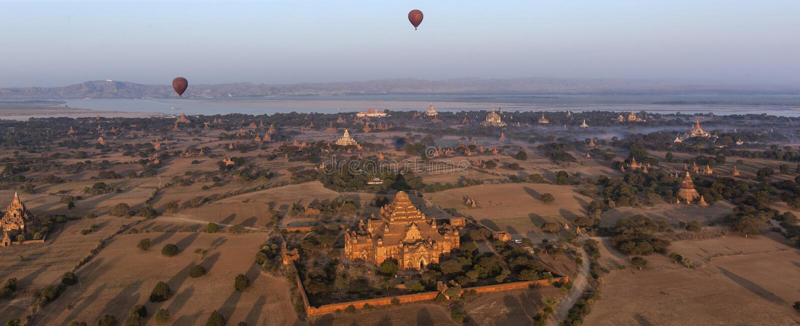 Hot Air Balloons - Bagan - Myanmar stock images