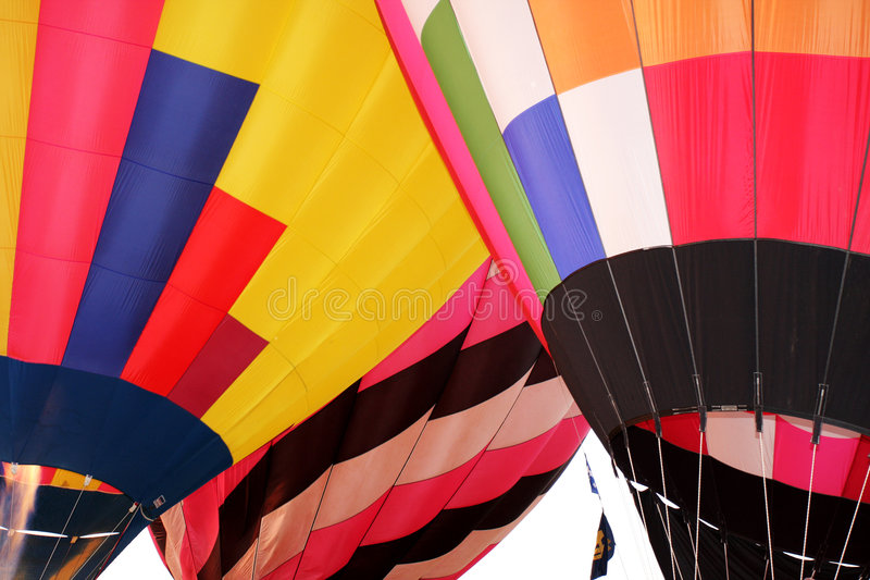 Hot air balloons flight stock images