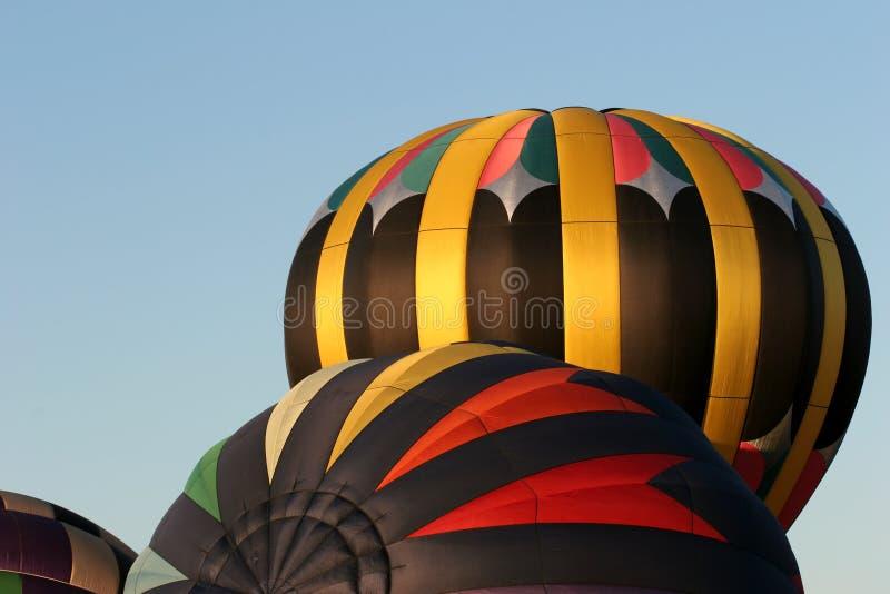 Hot Air Balloons Inflating Free Stock Image