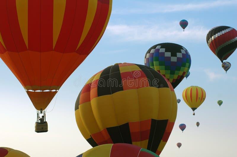 Hot air balloons over Iowa royalty free stock photo
