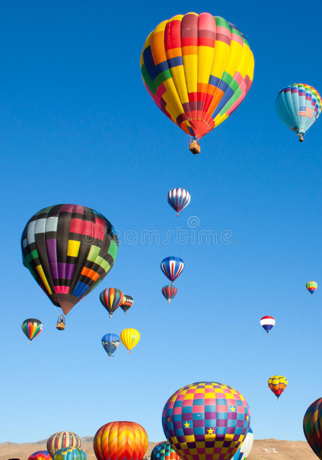 Download Hot Air Balloons On A Sunrise Flight Stock Photo - Image: 25885806