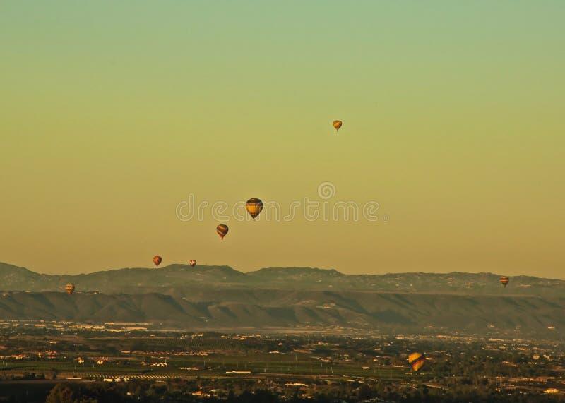 Hot air balloons sunrise royalty free stock photography