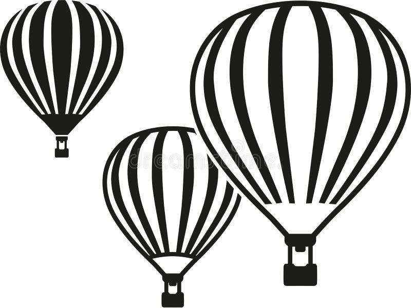 Hot air balloons stock illustration