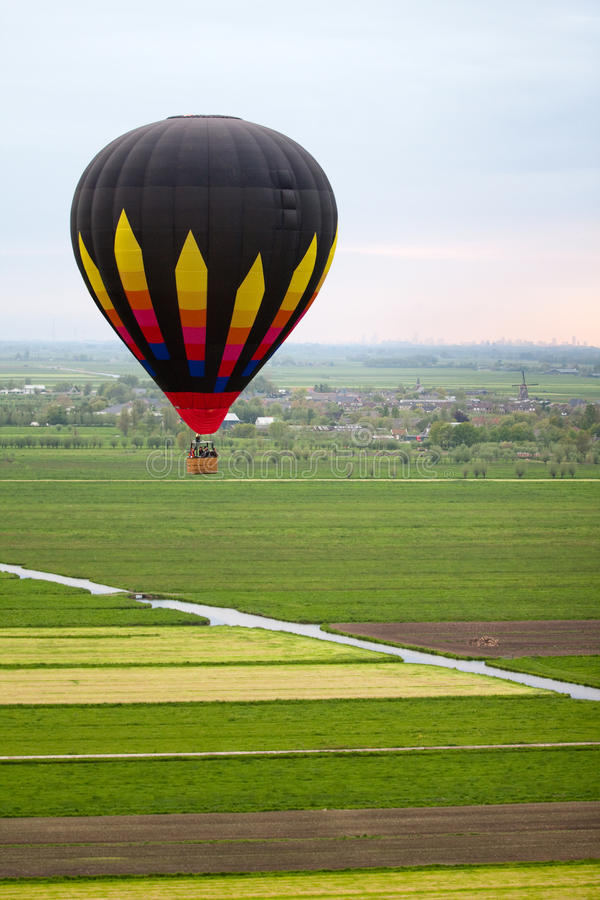 Download Hot air baloon floating stock image. Image of adventure - 14365151