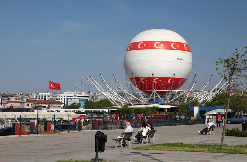 Download Hot air baloon in Istanbul editorial stock photo. Image of asia - 19984678