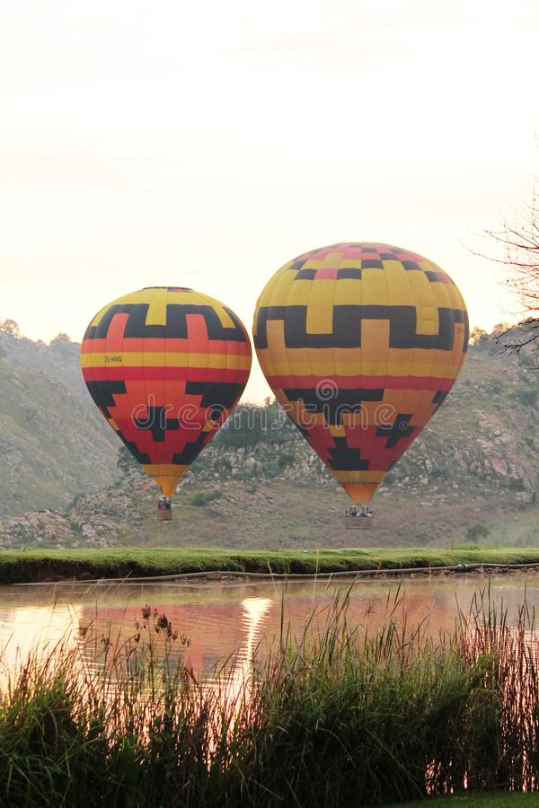 Hot Air Balooning in Africa royalty free stock photo