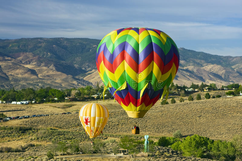 Download Hot air baloons stock image. Image of striped, colored - 18566881