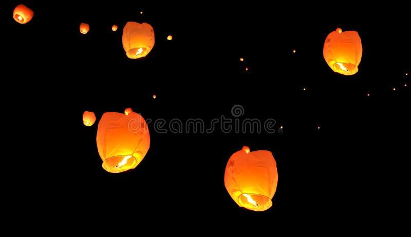 Hot air Thai party paper balloon stock photo