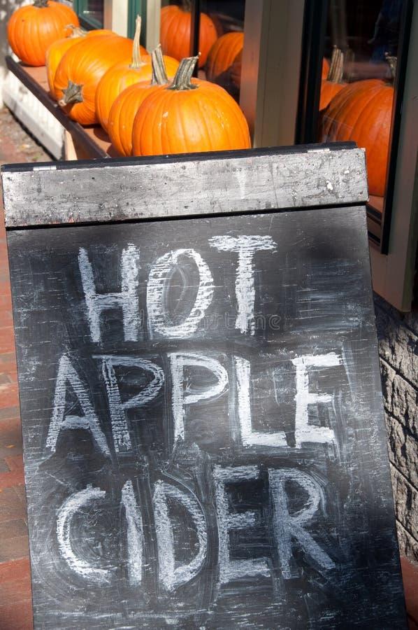 Hot Apple Cider Chalkboard Sidewalk Sign royalty free stock images