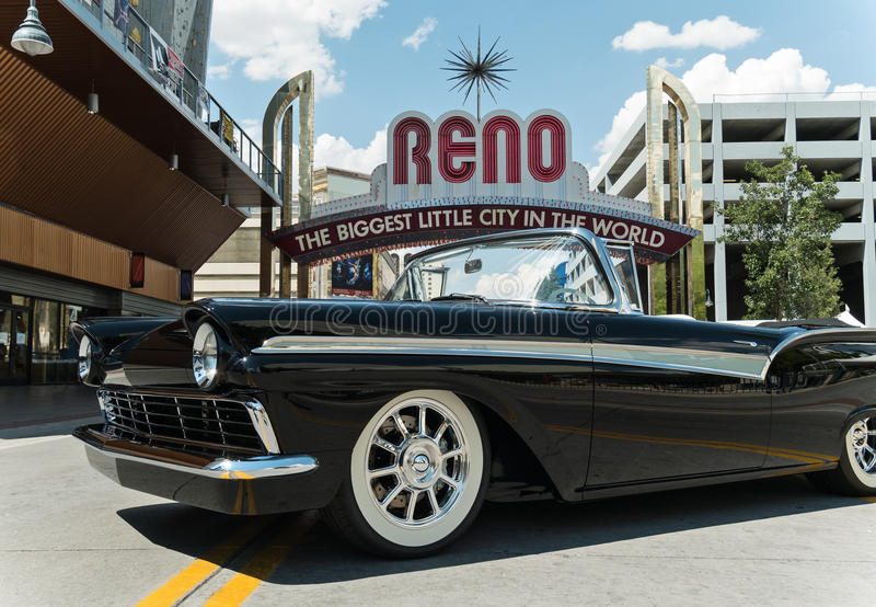 Hot August Nights, downtown Reno, Nevada royalty free stock photos
