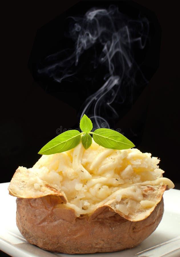 Hot baked potato royalty free stock photography