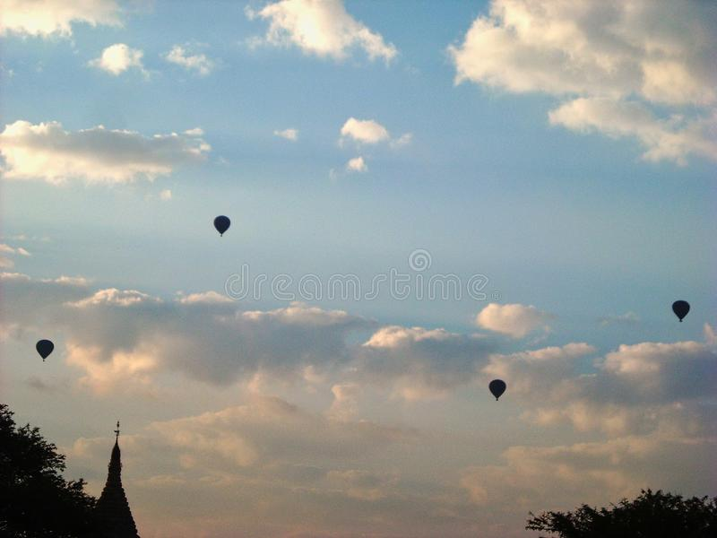 hot ballons in the air stock photography