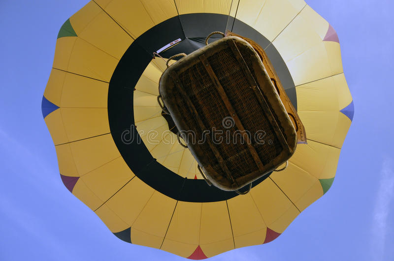 Hot Balloon On Blue Sky Stock Images