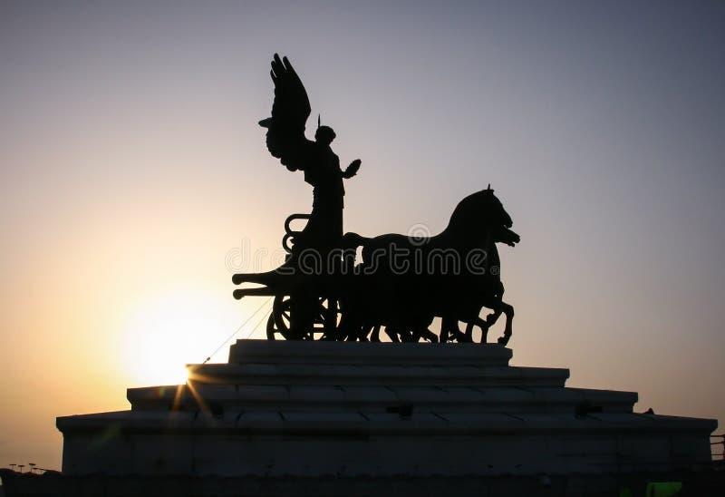The Quadriga dell'Unità on the summit royalty free stock image