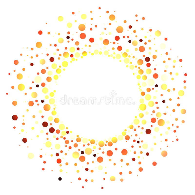Hot Balls Fire Ring Frame. Border frame with hot balls fire color swirling around. Explosion royalty free illustration