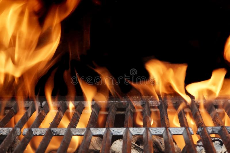 Hot Barbecue Grill. Outdoor Party or Picnic Concept stock images