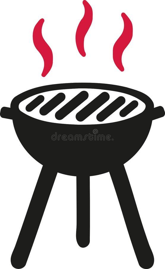 Hot BBQ symbol. Grill vector vector illustration