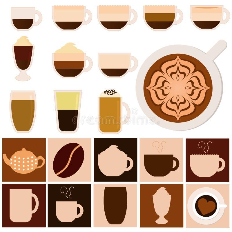 Download Hot Beverages - Coffee, Tea, Chocolate Stock Vector - Image: 22324909