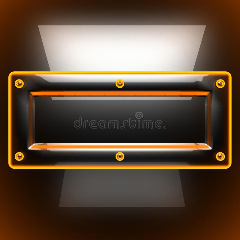 Hot black metal background royalty free stock images