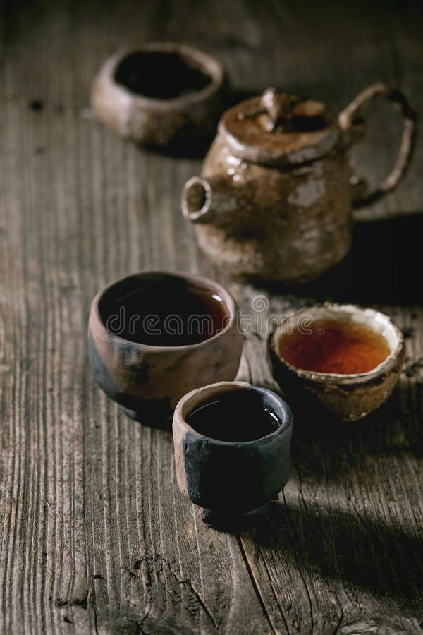 Hot black tea royalty free stock photography