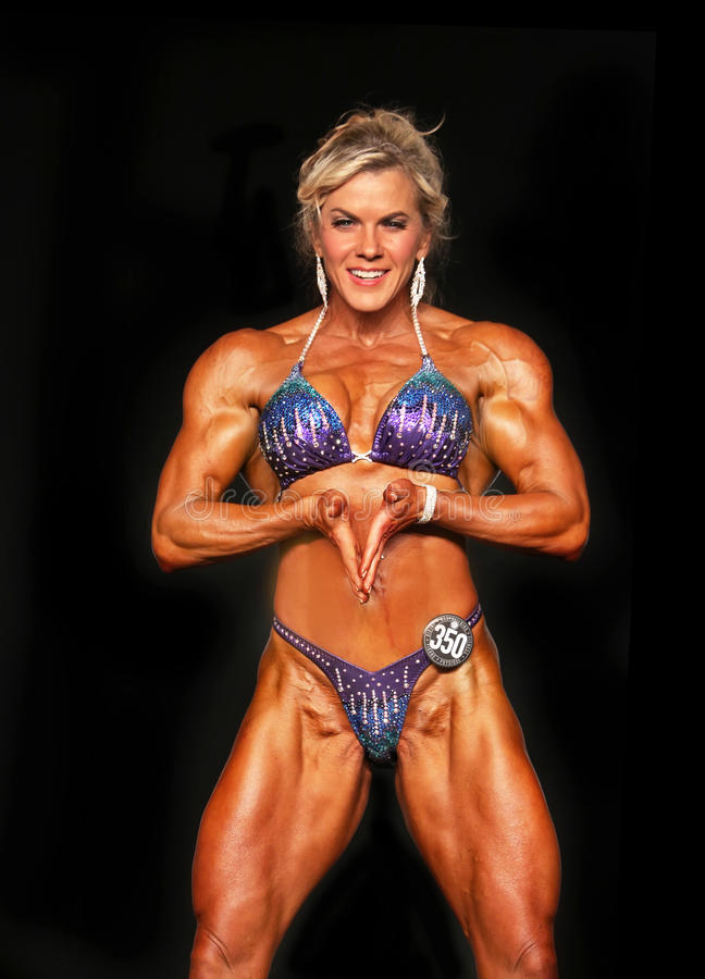 Hot Blonde Bodybuilder editorial image. Image of flannery ...