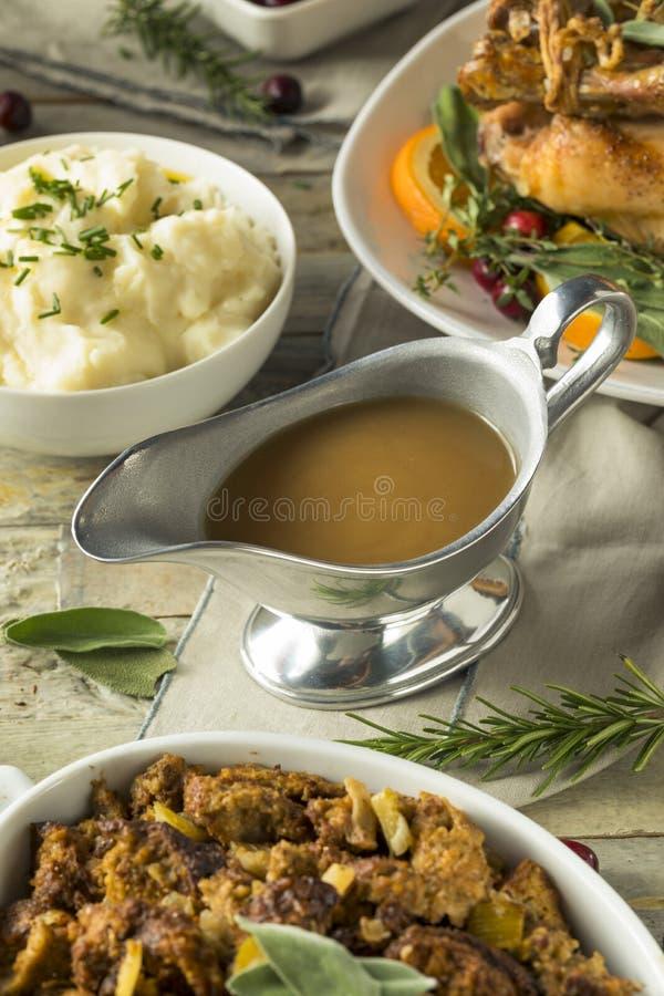 Free Hot Brown Organic Turkey Gravy Stock Photo - 101667230