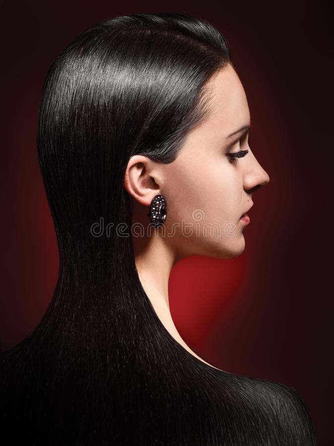 Download Hot Brunette Girl With Perfect Straight Hair Royalty Free Stock Photo - Image: 26385225