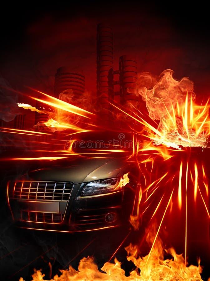 Hot car stock illustration