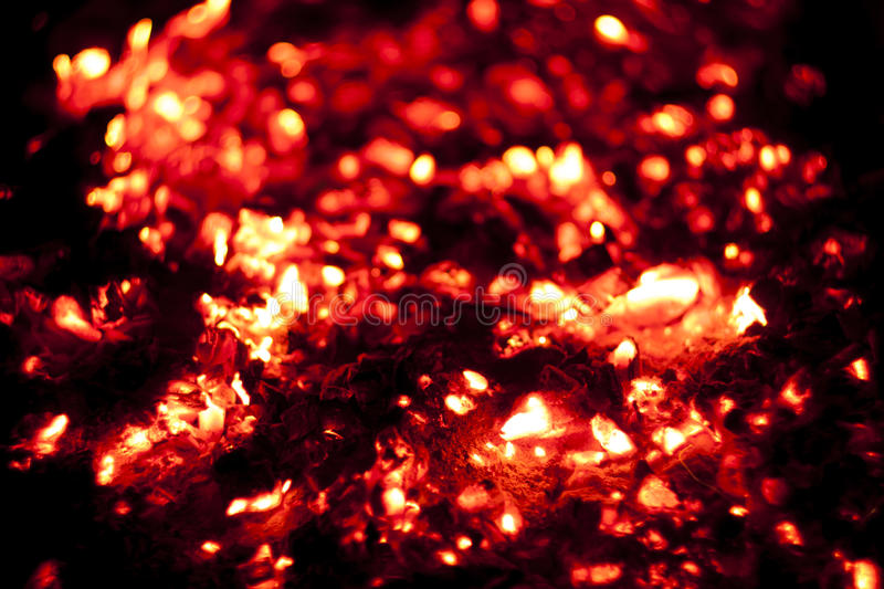 Hot charcoal fire. Bright red hot charcoal fire screensaver close up stock photography