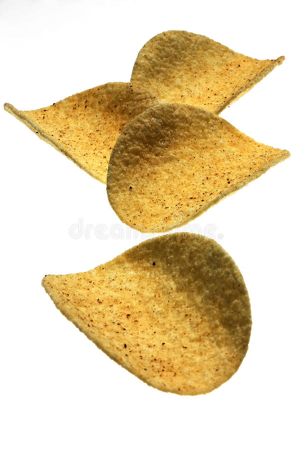 Hot chili chips stock photography
