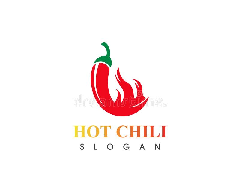 Hot chili logo template design vector, concept design, creative icon. Red, pepper, spicy, food, spice, ingredient, background, fresh, mexican, vegetable, green vector illustration