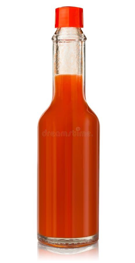 Hot chili pepper sauce. Red hot chili pepper sauce stock photo