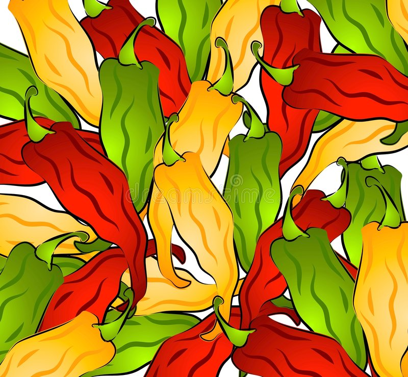 Free Hot Chili Peppers Background Royalty Free Stock Photography - 2968917