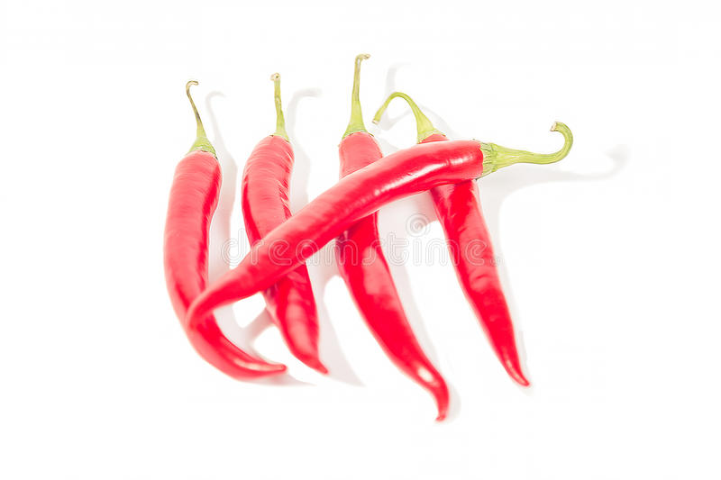 Hot chili peppers, crossed days. A stock image
