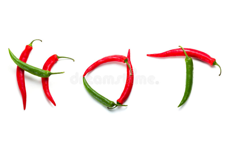 Download Hot Chili Peppers Over White Stock Photo - Image of cooking, fresh: 25113466