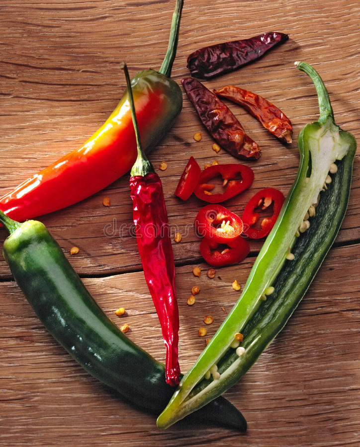Hot chili peppers royalty free stock photography