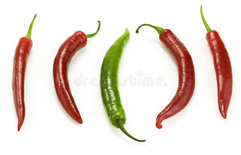 Hot chilli peppers royalty free stock photography