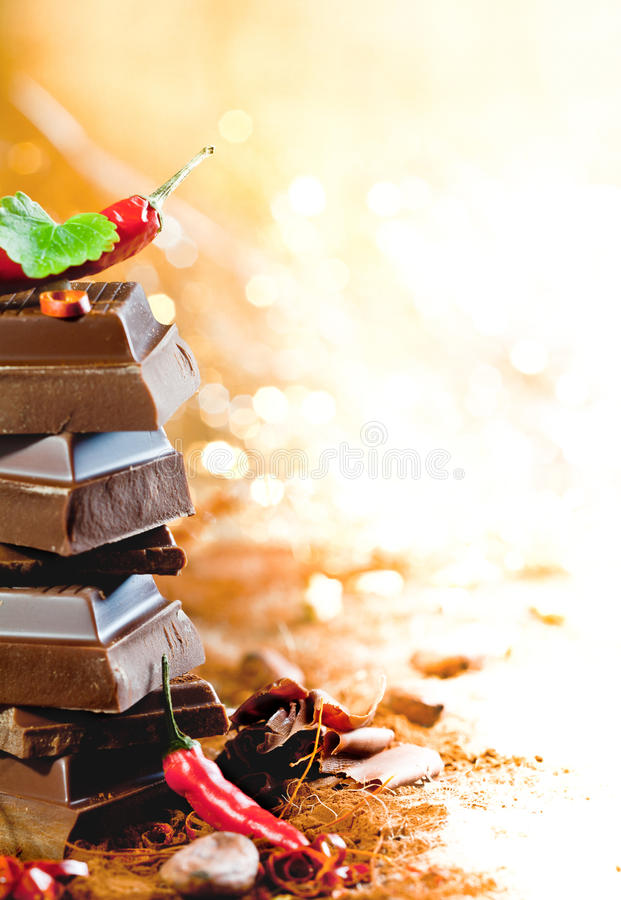 Hot Chocolate And Cacao royalty free stock photo