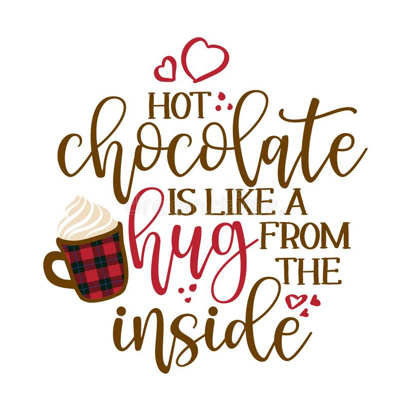 Free Hot Chocolate Is Like A Hug From The Inside - Hand Drawn Vector Illustration Royalty Free Stock Photos - 161426268