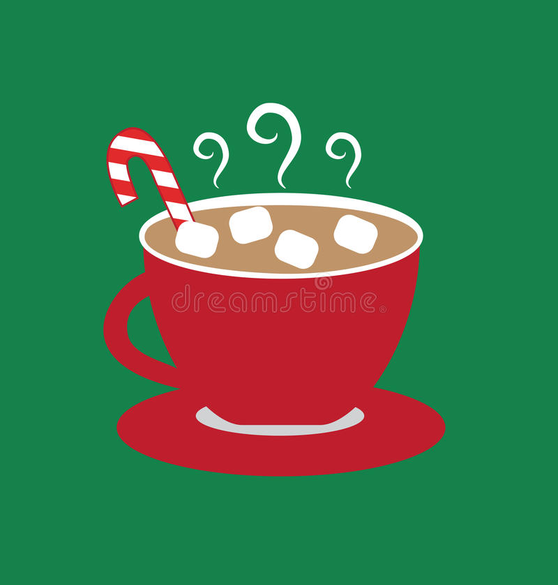 Hot Chocolate with Marshmallows vector illustration
