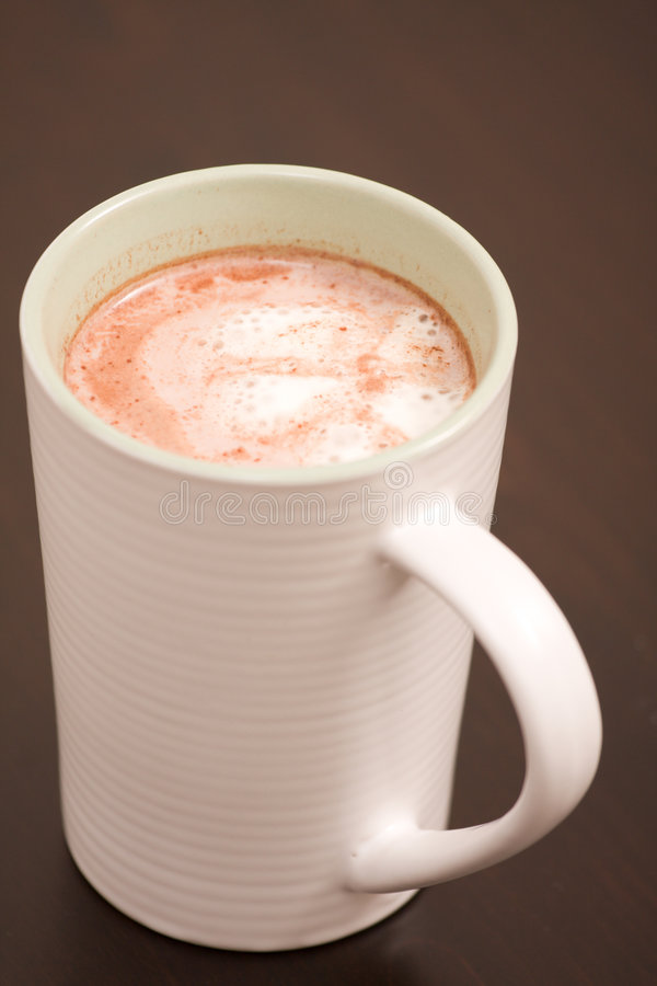 Download Hot Chocolate In A White Cup Stock Image - Image: 6246067