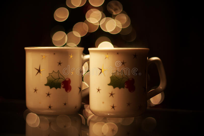 Hot christmas drinks stock photography