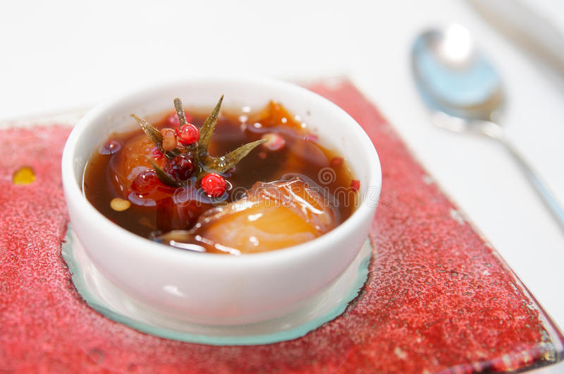 Hot Chutnee Sauce With Tomato And Red Pepper Royalty Free Stock Photos